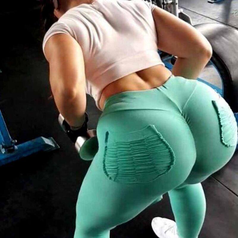 Women High Waist Sports Yoga Pants Leggings Printed Fitness Gym Stretch Trousers 8