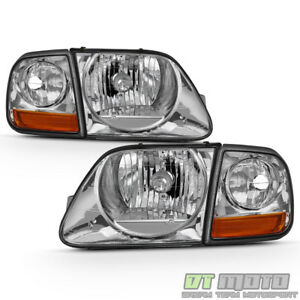 1997-2003 Ford F150 Expedition Lightning Style Headlights w/Corner Signal Lights