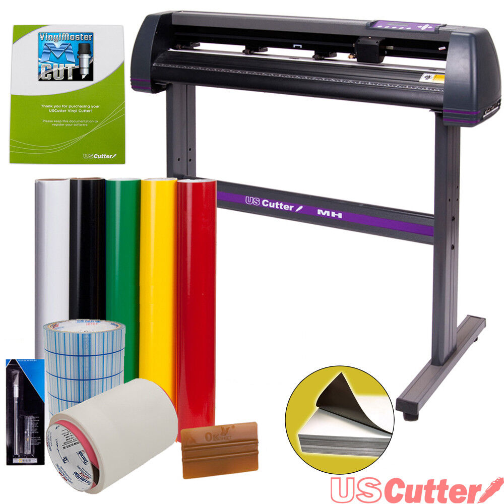 "34"" USCutter Vinyl Cutter / Plotter, Sign Cutting Machine w/Software + Supplies"