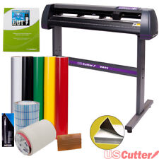 "34"" USCutter Vinyl Cutter Sign Cutting Machine w/VinylMaster + Supplies (BUNDLE)"