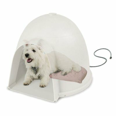 "KH Pet Products Lectro-Soft Igloo Style Outdoor Heated Bed Small Tan 11.5"" x 18"""