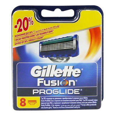 8 Gillette FUSION PROGLIDE 8 Stück Rasierklingen Klingen in OVP