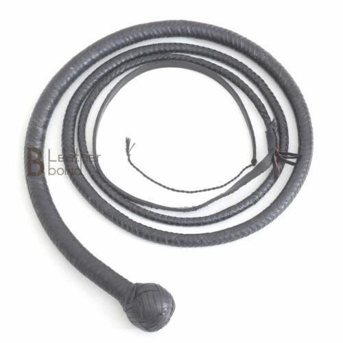 Real Kangaroo Hide Leather Shot Loaded Snake Whip 4, 5, 6 & 8 Foot 12 Plaits