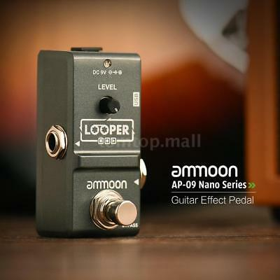 ammoon Nano Loop Electric Guitar Effect Pedal Looper Unlimited Overdubs USB NEW ()