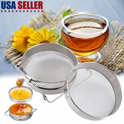 Beekeeping Double Honey Sieve Strainer Filter Apiary Equipment Stainless Steel