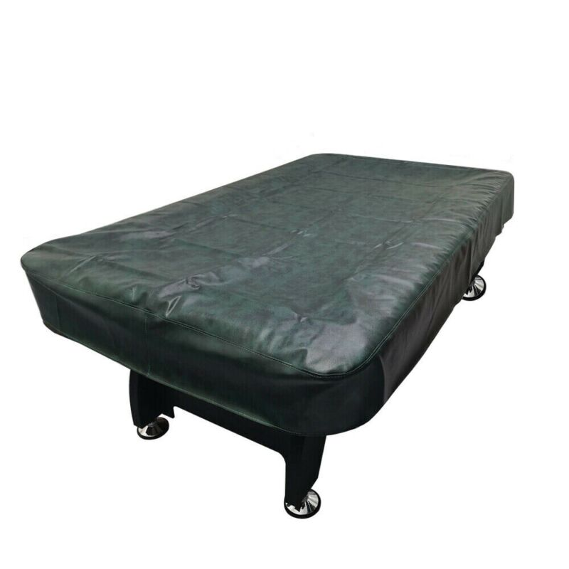 """7ft 8ft 9ft Heavy Duty Fitted Pool Table Billiard Cover Leatherette w/ 8"""" Drape"""