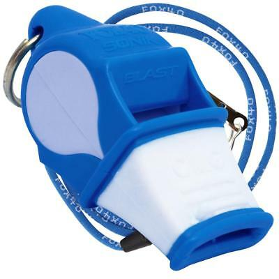 BLUE/WHITE Fox 40 SONIK BLAST CMG Whistle Official Coach Safety - FREE