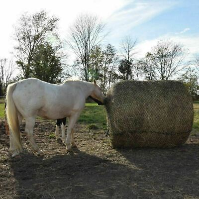 """Tough 1 Deluxe Round Bale Slow Feed Hay Net with 2"""" Openings - Black"""