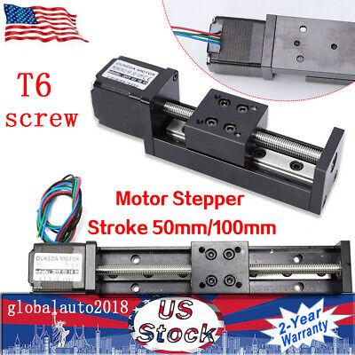 2 Typs Cnc Slide Stage Actuator Stepper Stroke T6 Leadscrew Linear W Motor Usus