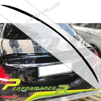 Schwarze Spoiler Lippe Heck Flügel für Mercedes Benz E Klasse W213 Limo sp37