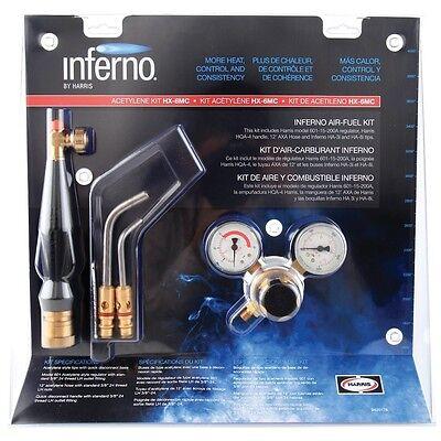 Harris Hx-3b Inferno Brazing Kit Quick Connect B Tank Acetylene Torch Kit
