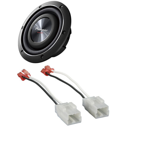 "Pioneer 700 Watts Max Shallow-mount 8"" subwoofer 2-ohm +Speaker Harness Adapter"
