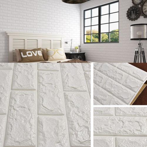 Rotolo 3d effetto flessibile mattone di pietra muro vinile for Carta da parati effetto pietra 3d