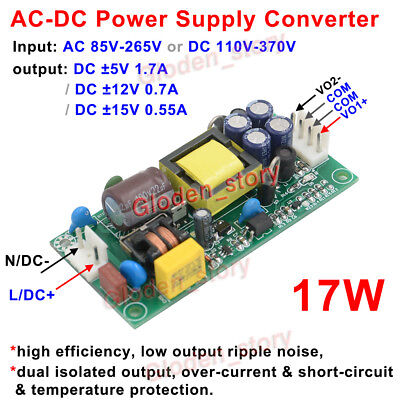 Ac110v 220v 230v To Dc 5v 12v 15v Dual Output Ac-dc Switching Power Supply
