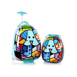 Heys Britto for Kids 2pc- 18 inch Luggage and 15 inch Backpack Set - Blue Dog