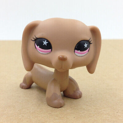Littlest Pet Shop LPS #932 Brown Dachshund Hot Dog Rare Collection Doll Toy Gift