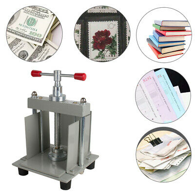 Us A4 Manual Flat Paper Press Machine For Photo Books Invoices Checks Booklet