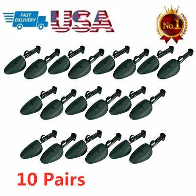 Pro 10 pair of Men Practical Green Plastic Shoe Tree Shoe St