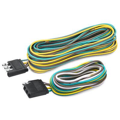 MICTUNING 4-Way Flat Trailer Wiring Harness Extension Kit 25' + 4' Connector  (4 Way Flat Trailer Connector)