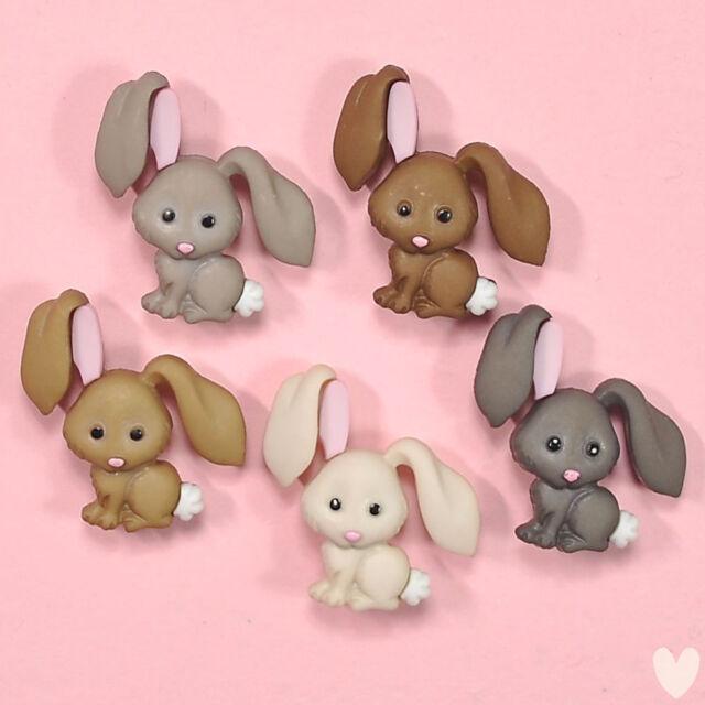 DRESS IT UP Buttons Hop Hop 8995  - Easter Embellishments Rabbits Bunnies