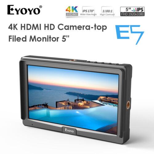 Eyoyo 5 Inches Ultra FHD Slim On-Camera Monitor HDMI 4K For Panasonic Sony DSLR
