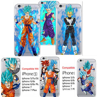 CARTOON Dragon Ball Z Super Saiyan God Silicone case for iphone X 8/6s/7 Plus 5s