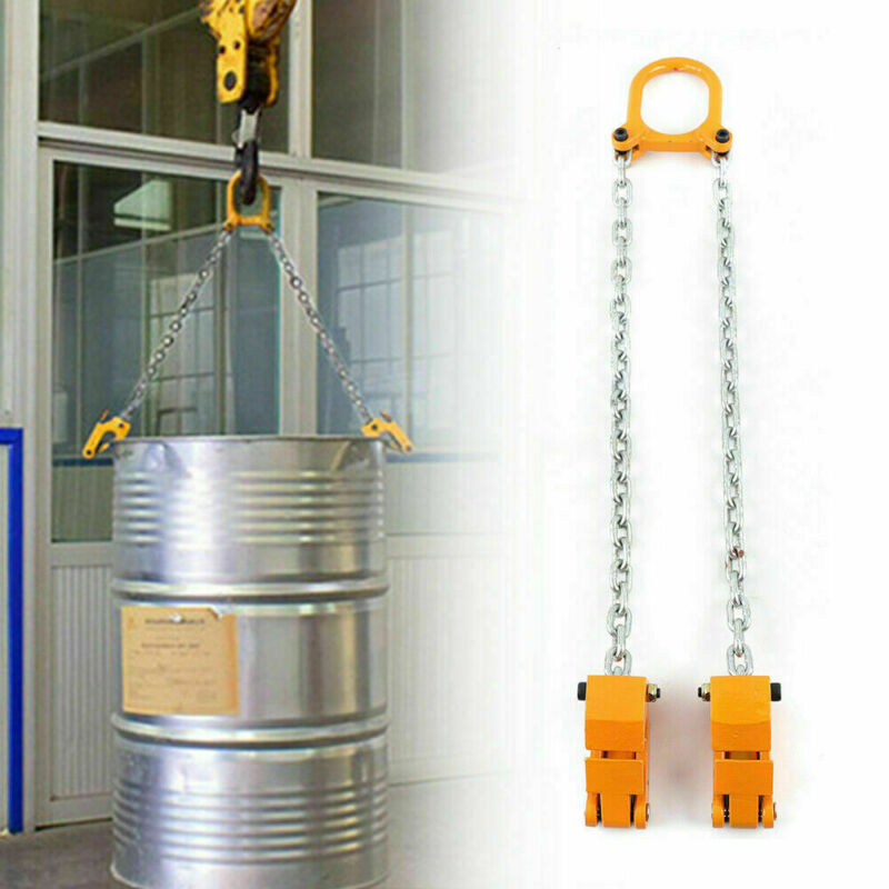 Multifunctional Lifting Tongs Chain Drum Lift Barrel Lifter 2000 Ibs Capacity