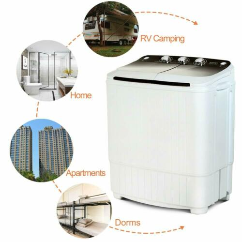 17LBS Portable Washing Machine Compact Twin Tub Laundry Wash