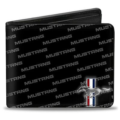 Leather style PU Ford Mustang logo billfold wallet - great christmas gift!