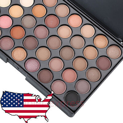 Cosmetic Matte Eyeshadow Cream Eye Shadow Makeup Palette Shimmer Set 40Color New