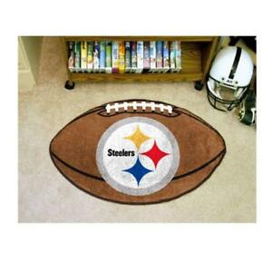 NFL - Pittsburgh Steelers Football Rug 20.5 x 32.5 Inch Non Skid Rug Mat Floor Protector