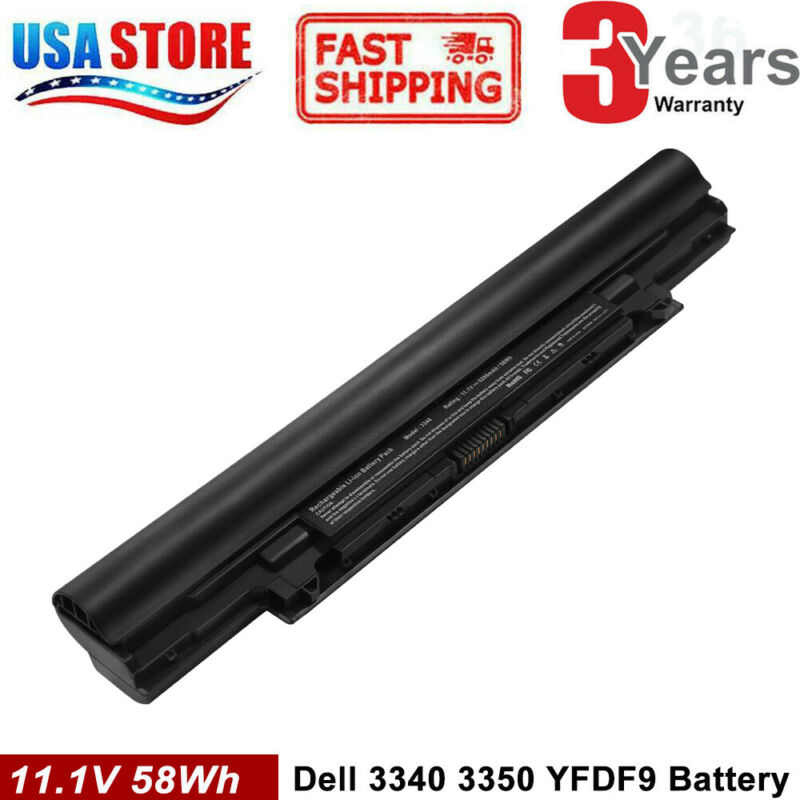 FOR Dell Latitude 3340 3350 Laptop Battery 11.1V 65Wh 5200mAh YFDF9 HGJW8