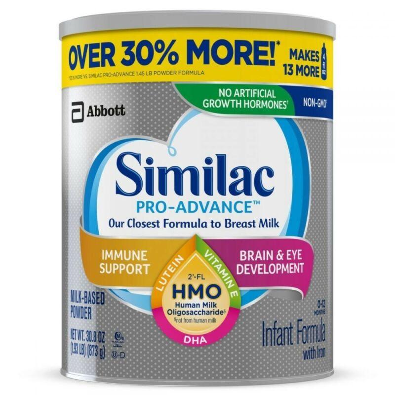 SIMILAC Pro Advance 144OZ LOT OF 18 CANS Similac Infant Baby Formula