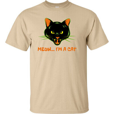 A Halloween Cat Costume (Meow Im A Cat Halloween T Shirt Funny Animal Classic Adult Cheap Costume)