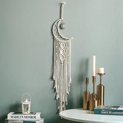 Moon Crescent Dream Catcher Handmade Tassel Wall Hanging Tapestry Ornament Craft