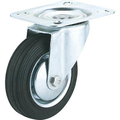 Steelex Steelex 10 Inch Caster Black Rubber Swivel Wheel 600 Lbs D2542