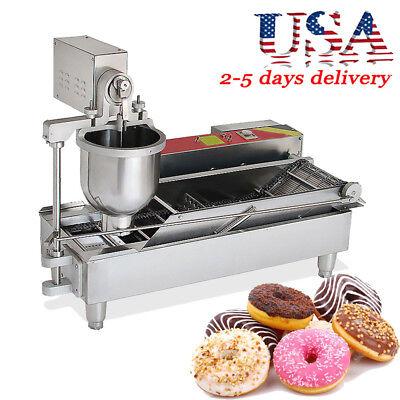 Automatic Electric Doughnut Donut Machine Donut Fryer 7l Hopper 1100pcsh