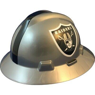 Oakland Raiders Msa Nfl Full Brim Hard Hat With Fas Trac Suspension
