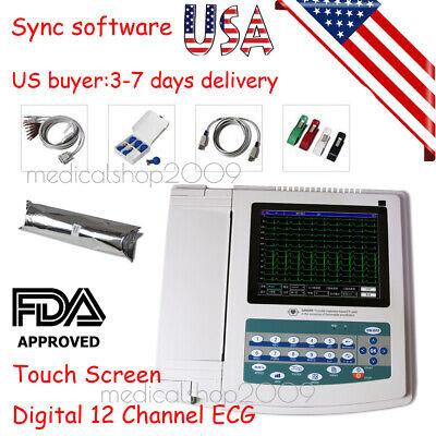 Portable Ecgekg Machine Digital 12 Channels-12 Lead Electrocardiographtouchus