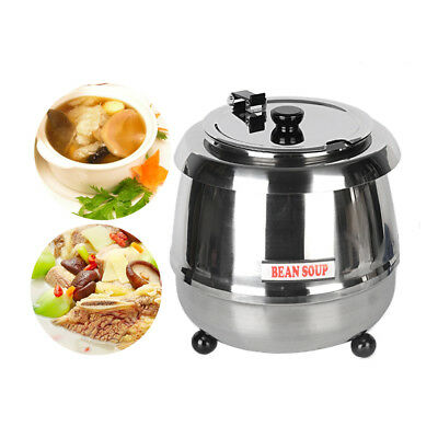 10l Commercial Wet Heat Soup Kettle Warmer Electric Warming Equipment Buffet Ce