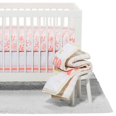 Crib Bedding Set Little Sprout 4pc - Cloud Island - Coral