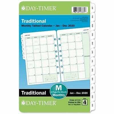Day-timer 2020 Monthly Planner Refill 5-12 X 8-12 Desk Size Loose Leaf New