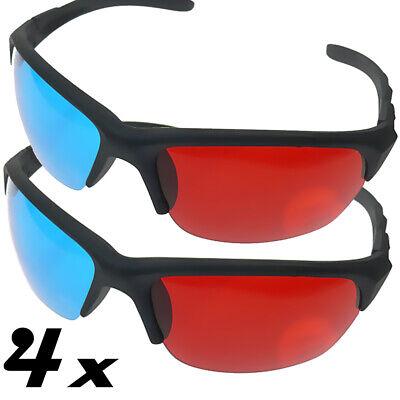 4x 3D Brille neu rot blau / rot cyan Video 3D Glasses CYAN ANAGLYPH ROT BLAU