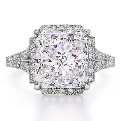 Radiant Cut Diamond Engagement Ring 18k Gold 3.50 CT GIA Certified