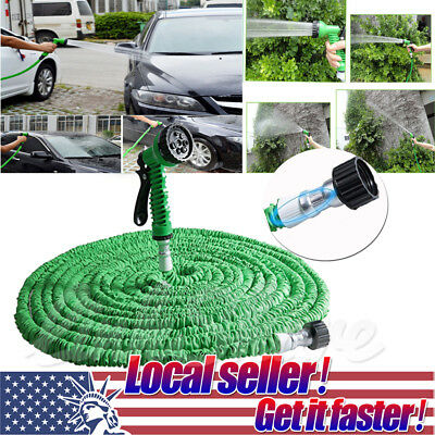 (US SHIP 25 50 75 100 200 ft Magic Hose Home Garden Expandable Pocket Water Hose)