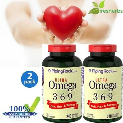 2x #1 BEST HEART SUPPORT SUPPLEMENT JOINT HEALTH ULTRA OMEGA 3-6-9 480