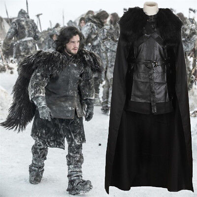 Game of Thrones King in the North Jon Snow Costume Full Set Cosplay Uniform Gift (Costumes In Game Of Thrones)