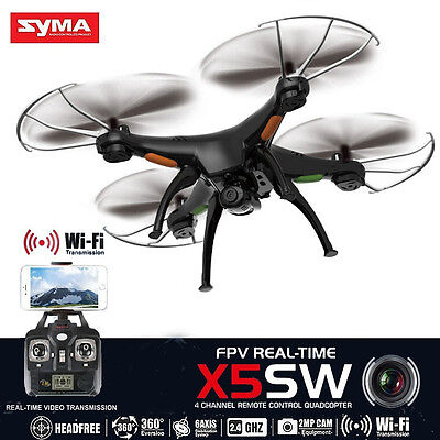 Syma X5SW RC Quadcopter Drone WIFI FPV with 2.0MP Camera for IOS Android iphone