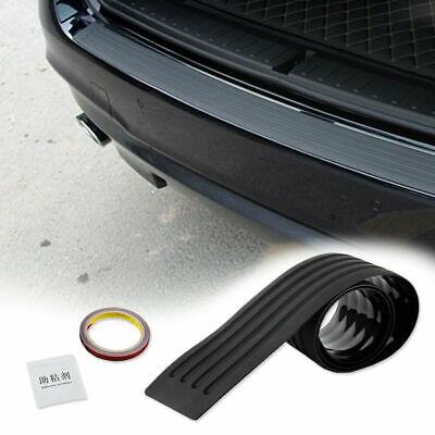 JDM Rear Bumper Guard Sill Plate Trunk Protector Trim Cover Black Rubber Pad Kit