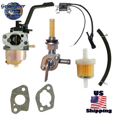 Steele Carburetor W Right Petcock Coil For Sp-wg220 2000 2200 Pressure Washer